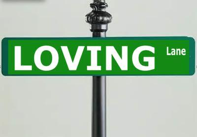 loving lane sign